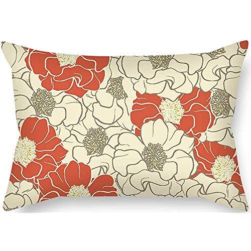 N/A 18x18 Pouces Fleur taie d'oreiller Chaque Ornement latéral et Cadeau pour Femme Chaise Longue GF café Maison Mari intérieur