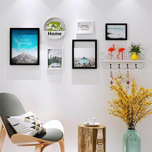 GWF fotolijstje foto muur- achtergrond muur decoratie bloem mand plank - woonkamer/restaurant/bank achtergrond muur - bezet muur 145cm (57.0in) * 55cm (21.6in)