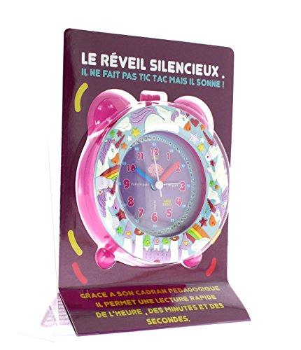 Baby Watch REVEIL Silencieux Licorne Enfant, Plastique, Rose, 11 x 6 x 13 cm