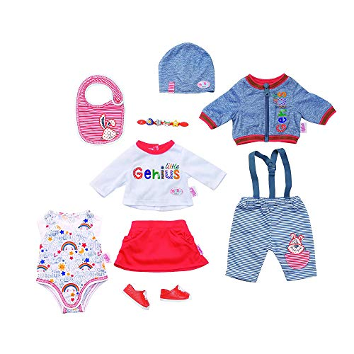 Zapf Creation 826928 BABY born Deluxe Mix & Match Kleidungsset für Puppen ab 43 cm, bunt