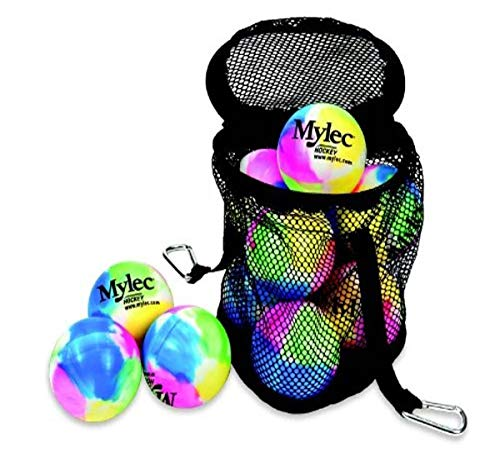 Mylec Street Hockey Balls (Pack of 12), Multi Color