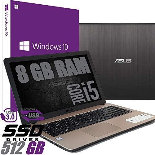 Notebook Asus I5 Display Led da 15.6' Cpu Intel quad core i5-8250U 8th gen fino a 3,4Ghz /Ram 8Gb DDR4 /HD SSD 512GB /VGA INTEL UHD 620 /Hdmi /Wifi /Bluetooth /Windows 10 professional /Open Office