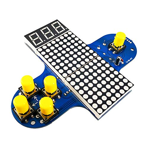 Cestbon La Production de la Machine de Jeu vidéo Amusant Bricolage, Greedy kit de Production Serpent/Tetris Machine de Jeu poignée,Bleu
