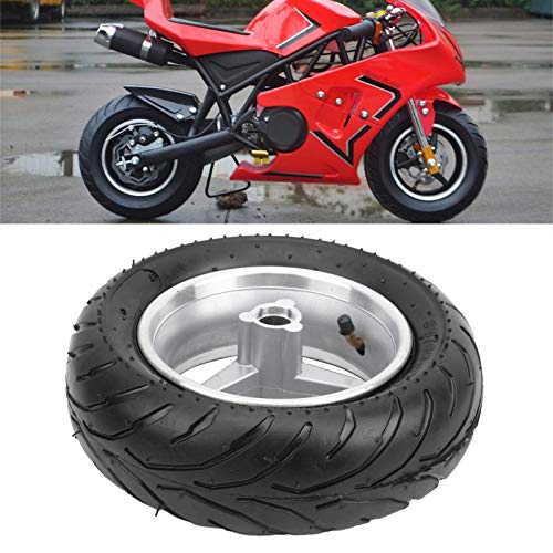 Patrocinado Accesorios para motocicletas Repuestos, confiables para usar, reemplazo de goma para neumáticos con patrones antideslizantes para mini bicicleta de bolsillo(Front wheel)