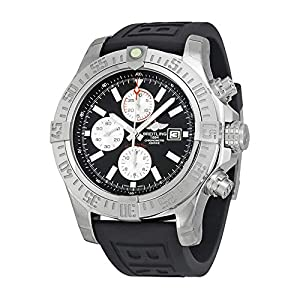 Breitling Watches Breitling Men's BTA1337111-BC29BKPT3 Super Avenger II Analog Display Swiss Automatic Black Watch