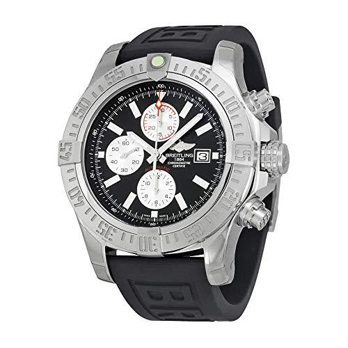 Breitling super Vendicatore II cronografo automatico nero quadrante nero gomma da uomo