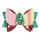 XUNXI Pinzas para el Cabello, Accesorios navideños Navidad Navidad Claus decoración de la Pared Flor Accesorio de Bricolaje Lazos para el Cabello Horquilla para Banda 2#