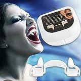 Colmillos de vampiro retráctiles realistas, kit de dientes falsos de vampiro, accesorio de cosplay reutilizable,disfraces de Halloween para niños adultos, carnaval de Halloween, fiestas (1 pieza)