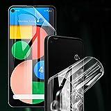 ONICO Bildschirm Schutzfolie für Google Pixel 4a 5G,TPU Selbstheilend Anti-Bläschen 3D-Gebogenen Volle Bedeckung Folie kompatibel mit Google Pixel 4a 5G [2 Stück]