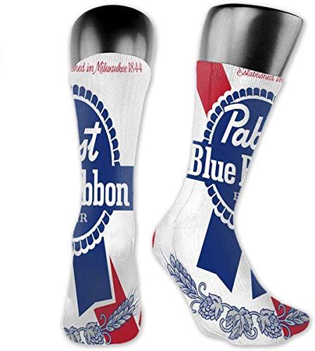 Pabst Blue Ribbon Damen und Herren Sportsocken Lässig Warm und Elegant