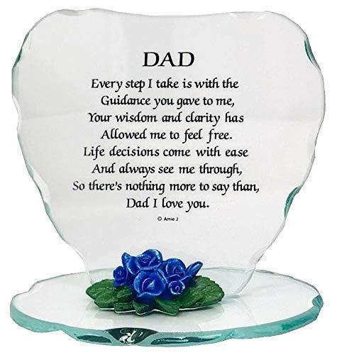 onlinestreet Glass Plaque Gift for Dad Beautiful Poem a...