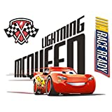 Disney Cars 3 Poster Decal - Giant Peel and Stick Cars Wall Decal Poster Room Decor Featuring Lightning McQueen, 18' x 24' (Cars 3 Merch for Kids Boys Girls)