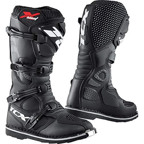 TCX Motorradschuhe, Motorradstiefel lang X-Blast Stiefel schwarz 43, Herren, Cross/Offroad, Ganzjährig, Leder