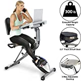 EXERPEUTIC WORKFIT 7150 1000 Fully Adjustable Desk Folding Exercise Bike with Pulse