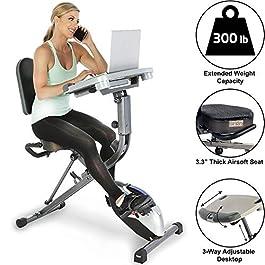 Exerpeutic ExerWorK 1000 Fully Adjustable Desk Folding Exerc...