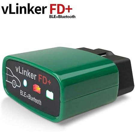 Vgate Obdii Bluetooth Vlinker Fd Obd2 Diagnosegerät Obd Adapter Für Android Ios Und Windows Bluetooth 4 0 Auto