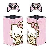 Xbox Series X Skin (lindo gato), Xbox Series X Controller Skins, Xbox Series X Skins para consola, Xbox Series X Vinilo calcomanía protectora para placas frontales