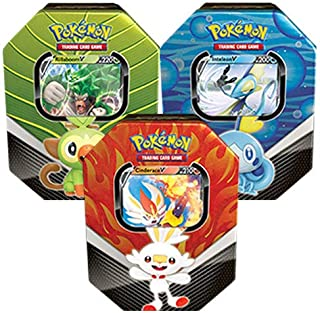 Pokémon 210-82678 Pokemon-Spring 2020 Galar Partners Tin-Set of 3 (Rillaboom, Cinderace & Inteleon)