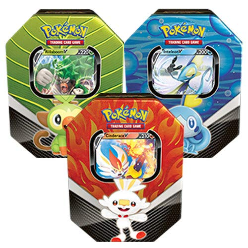Pokémon 210-82678 Pokemon-Spring 2020 Galar Partners Dose 3er-Set (Rillaboom, Cinderace & Inteleon)