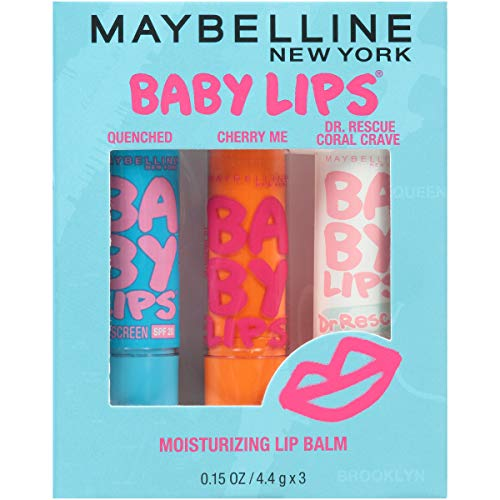 Maybelline New York Dr. Rescue Baby Lips Medicated Lip Balm Makeup, Coral Crave, 0.15 Ounce, Pack of 1
