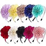 XIMA 10pcs Chiffon Flower Girls Headbands for Kids Children Teens toddlers Hair Accessories