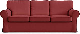 Cotton Material Ektorp 3 Seat Sofa Cover For Ikea three Seater Sofa Slipcover