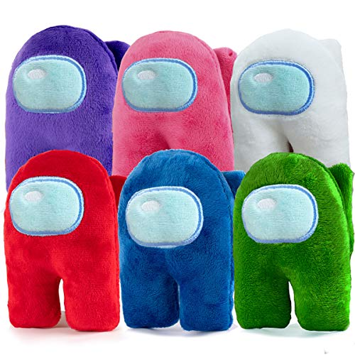 6 Pcs Crewmate Plushies Cute Toys,Astronaut Stuffed Plush Figures for Kids Game Fans Gifts