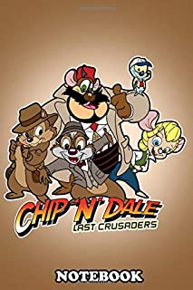 Notebook: Chip N Dale And The Rescue Rangers Take On Indiana Jone , Journal for Writing, College Ruled Size 6