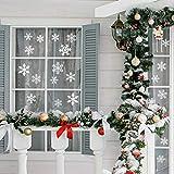 Naler 96 Schneeflocken Fensterbild Abnehmbare Fensterdeko Statisch Haftende PVC Aufkleber Winter Dekoration - 5