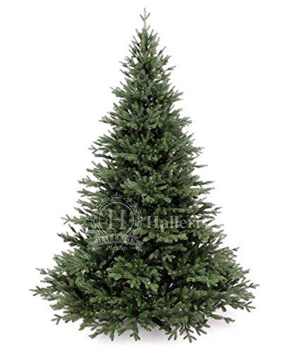 Original Hallerts® Spritzguss Weihnachtsbaum Oxburgh 180 cm als Edeltanne - Christbaum zu 100% in Spritzguss PlasTip® Qualität - schwer entflammbar nach B1 Norm, Mater€ial TÜV und SGS geprüft - Premium Spritzgusstanne