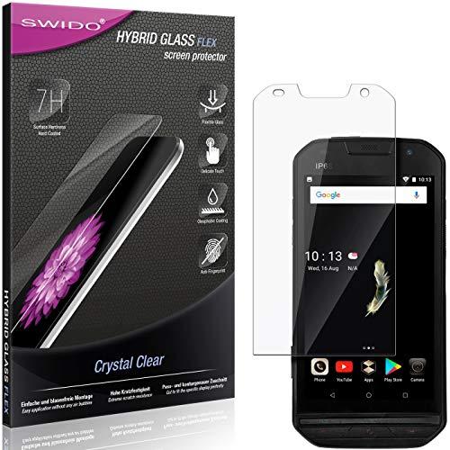 SWIDO Panzerglas Schutzfolie kompatibel mit Doogee S30 Bildschirmschutz-Folie & Glas = biegsames HYBRIDGLAS, splitterfrei, Anti-Fingerprint KLAR - HD-Clear