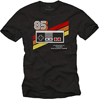 MAKAYA Gamer T-Shirt Hombre - Vintage Game Controller - Play