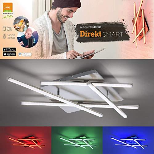 Smart Home RGB LED Decken Lampe Alexa App Tageslicht Leuchte dimmbar LeuchtenDirekt 11425-55