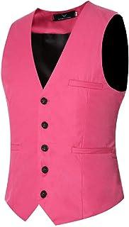 BLTR Men Single Breasted 3 Buttons Sleeveless Business Slim Waistcoat Vest