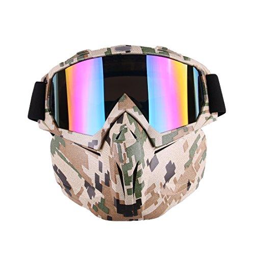 Leic Máscara táctica Estilo Simple Dardos de Espuma Suave Protectora Espejo de Engranaje extendido Mascarilla para Entrenamiento Nerf CS Juego de Paintball Airsoft