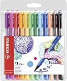 Rotulador punta media Stabilo pointMax - Estuche con 12 colores, multicolor