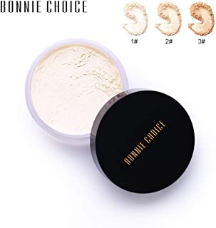 BONNIE CHOICE Face Loose Powder Translucent, Waterproof Smooth Face Foundation Makeup Brighten Finishing Powder Translucent Light Cosmetic With Puff (#2)