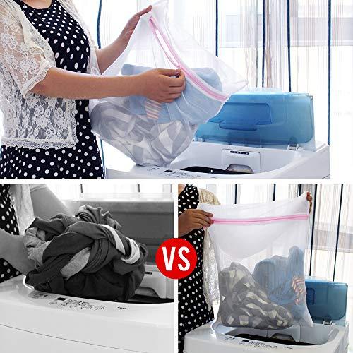 SLEPL Mesh Laundry Bags,Travel Storage Organize,Laundry Bra Lingerie Mesh Wash Bags for Blouse, Bra, Hosiery, Stocking, Underwear (Pink)