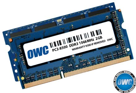 OWC 6 GB (2 + 4 GB) PC3-8500 DDR3 1066 MHz SODIMM 204 Pin Memory Upgrade Kit voor Late 2008, Early 2009, Early 2010 MacBook, MacBook Pro Unibody modellen, 2009/2010 Mac mini, 2009 iMac Model OWC8566DDR3S6GP