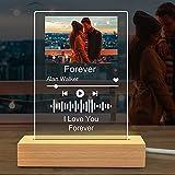 luce notturna Spotify Personalizzata con foto,Acrilica targa...