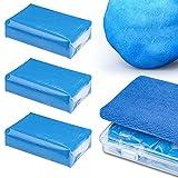 HENMI Juego de 3 plastilinas de limpieza profesional Homogene, masilla limpiadora de pintura para eliminar el polvo industrial, el óxido y los restos de insectos