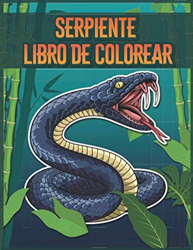 Serpiente Libro de Colorear: 30 Páginas Para Colorear Serpiente para Niños