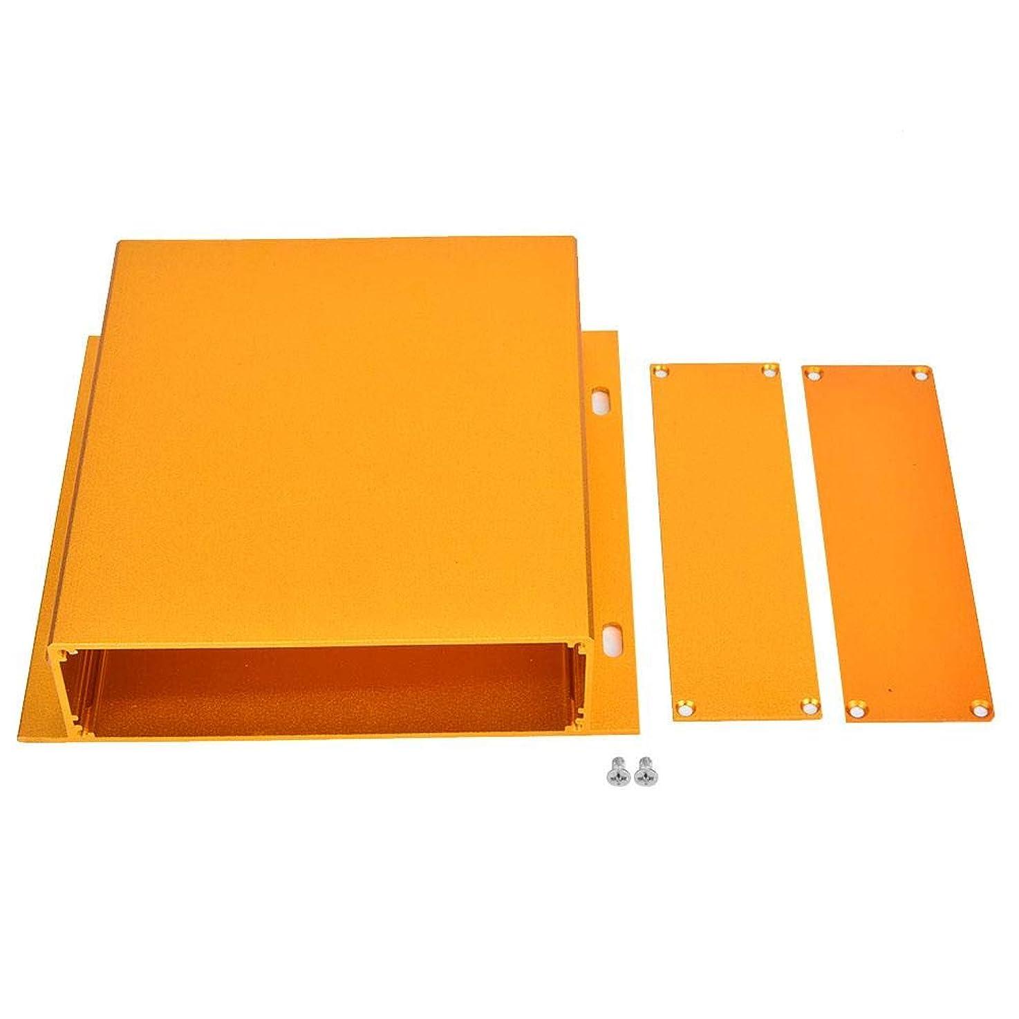 マグ前提ふつう電子プロジェクトケース、39 x 158 x 150mmアルミニウム合金DIY配線エンクロージャーインストゥルメントケース、サンドブラスト酸化金ヒートシンクプリント回路基板保護ジャンクションボックス