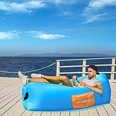 Picnics or Indoor Wind Bed Lounger with Beach Blanket MIABOO Inflatable Lounger Air Sofa,Ultra Waterproof and Durable for Camping Beach Park Backyard