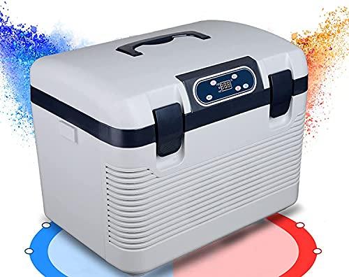 BIIII Mini refrigerador de automóviles portátil, refrigerador de refrigeración rápida refrigerador, congelador de Picnic Campervan refrigerador más Calentador, 19 litro
