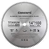Concord Blades ACB1400T100HP 14-Inch 100 Teeth TCT Non-Ferrous Metal Saw Blade