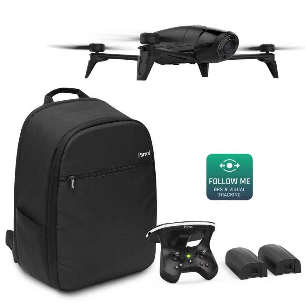Parrot- Pack Dron GPS ꟾ Follow me Seguimiento Visual ꟾ Control Remoto Freelight Pro ꟾ Skycontroller 2 ꟾ 3 Baterías, 1h 30 de vueloꟾ Mochila Bebop 2 Special: Amazon.es: Juguetes y juegos
