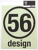 56design カッティングステッカー サークルロゴ140 Black 90-1433-005-090