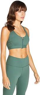 Rockwear Activewear Women's Mi Wanderlust Zip Sports Bra From size 4-18 Medium Impact Bras For