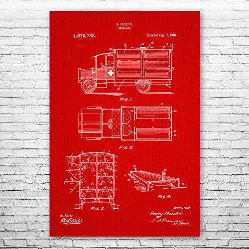 Vintage Ambulance Poster Print